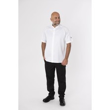 Le Chef DE128B Cool And Light SB Jacket White With White Panels