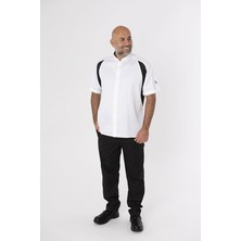 Le Chef DE128A Cool And Light SB Jacket White With Black Panels