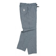 Le Chef DF54H Blue & White Small Check Pants Poly/Cotton