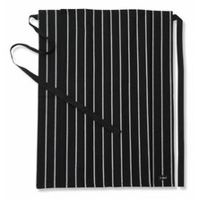 Le Chef DE45A Straight Top Apron Woven Broad Stripe Black/White