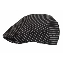 Le Chef DF01B Flat Cap Pinstripe Black/White