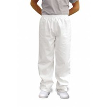 Unisex Bakers Trousers White