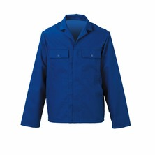 Jacket Poly/Cotton Royal Blue