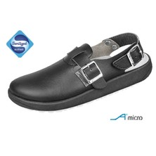 Abeba Clog Black With Back Strap