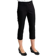 Ladies Black Spa Trousers Cropped