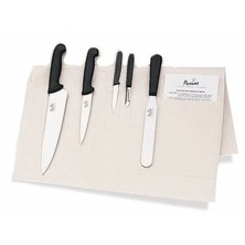 Knife Set Smithfield Medium With 20cm Deep Cooks Knife In Cotton Wallet