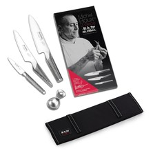Global 3 Piece Knife Set With Canvas Roll Case Limited Edition M. R.