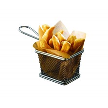 Mini Chip Frying Basket Rectangular 12.5cm X 10cm X 8.5cm