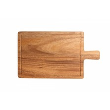 Acacia Serving/Steak Board With Handle Small 31cm X 18cm X 1cm