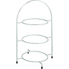 Chrome Plate Stand 3 Tier 42cm To Hold 3 X 23cm Plates