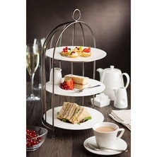 Birdcage Plate Stand Aged Copper 37cm To Hold 3 X 23cm Plates