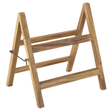 Acacia Wood Folding Display Stand 38cm X 30cm X 40cm