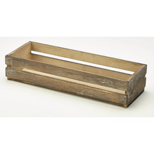 Wooden Display Crate 34cm x 12cm x 7cm Dark Rustic