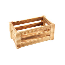 Wooden Display Crate 27cm x 16cm x 12cm Rustic