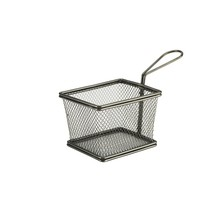 Mini Frying Basket Black 12.5cm X 10cm X 8cm