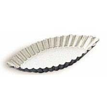 Patty Tin / Barquette / Boat Mould Oval 85mm X 35mm Fluted