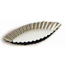 Patty Tin / Barquette / Boat Mould Oval 100mm X 42mm Fluted