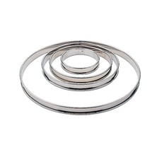 Flan Ring Stainless Steel 24cm X 2cm