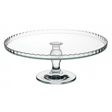Footed Cake Stand Glass 32cm