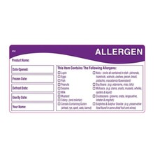 Allergen Labels (Roll Of 500)