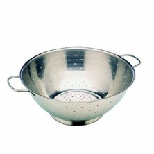 Stainless Steel Rice Colander Side Handles 28cm
