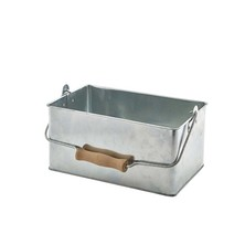 Galvanised Steel Table Caddy 24.5cm X 15.5cm X 12.5cm