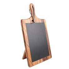 Acacia Paddle Chalk Board With Stand 385mm X 220mm X 25mm