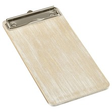 White Wash Wooden Menu Clipboard Wine List 13cm x 24.5cm x 0.6cm