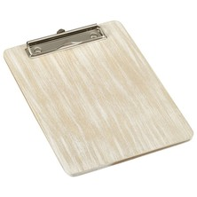 White Wash Wooden Menu Clipboard A5 18.5cm x 24.5cm x 0.6cm