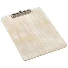 White Wash Wooden Menu Clipboard A4 24cm x 32cm x 0.6cm