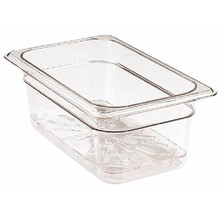 Food Pan Gastronorm Polycarbonate GN1/4 26.5cm X 16.2cm Hard Cover