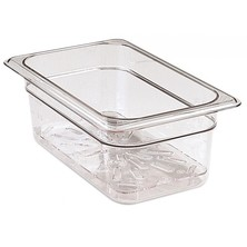 Food Pan Gastronorm Polycarbonate GN 1/9 17.6cm X 10.8cm Hard Cover