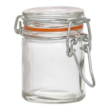 Preserve Jar Mini Glass Clip Top Round 50ml / 6cm Tall