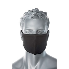 2 Ply Fabric Face Mask Black