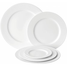 Anton Black Fine China Edge Winged Plate 23cm (Box of 6)
