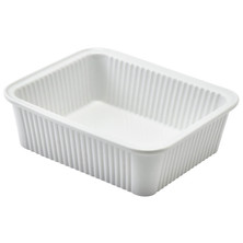 Royal Genware Fluted Rectangular Pie Dish 20.5cm X 16.5cm X 5cm (Box Of 3)