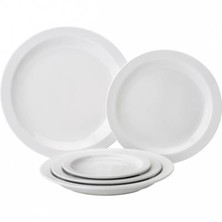Pure White Porcelain Narrow Rim Plate 25.4cm (Box of 18)