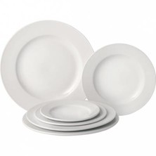Pure White Porcelain Wide Rim Plate 27cm (Box of 18)