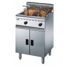 Lincat J10/n Free Standing Natural Gas Twin Tank Fryer 2 X 12ltr With 2 Baskets 2 X 21.7kw