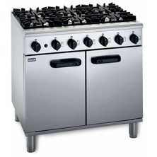 Lincat Lmr9/n Medium Duty 6 Burner Natural Gas Oven Range