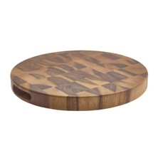 Acacia Wood End Grain Chopping Board 38.5cm X 4cm