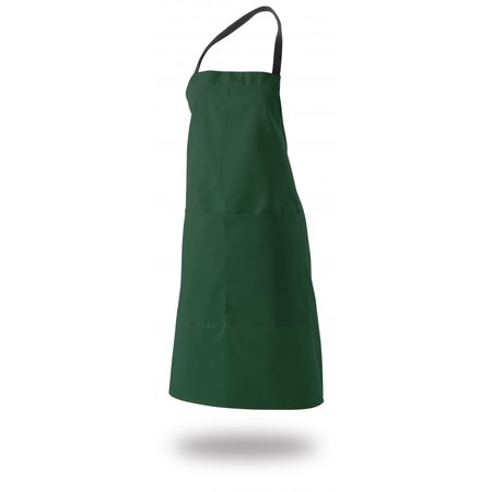 "Bib Apron 34"" X 33"" Poly/Cotton With Pocket"