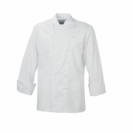 De Berkel Maitre Chefs Jacket **Short Sleeves** Poly/Cotton With Stud Buttons