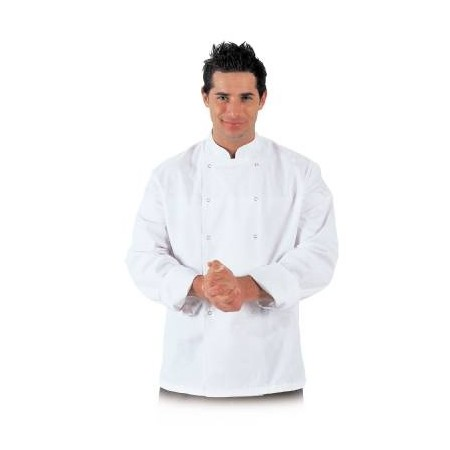 De Berkel Cuisine Chefs Jacket Poly/Cotton Press Stud Buttons