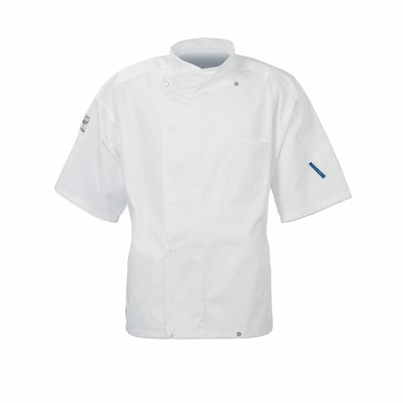 Le Chef DE20E Staycool Tunic With Coolmax Back Short Sleeves White
