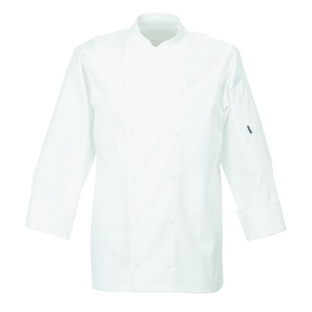 Le Chef DE92 Executive Jacket With New Capped Studs White