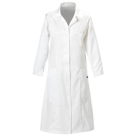Ladies Coat With Two Lower Front Pockets White