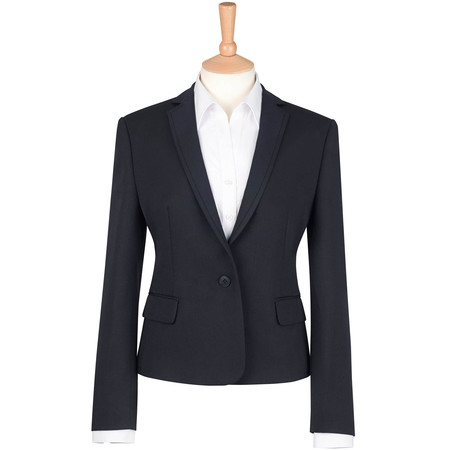 Lady's Suit Jacket Polyester Black