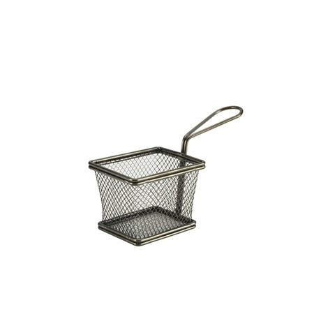 Mini Frying Basket Black 10cm X 8cm X 7.5cm