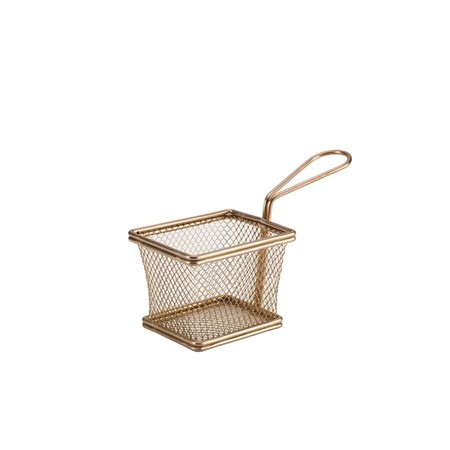 Mini Frying Basket Copper 10cm X 8cm X 7.5cm